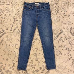 """MADEWELL 9"""" Hi-Rise Skinny Jeans 29"""